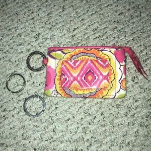 Vera Bradley id and card holder and extra rings